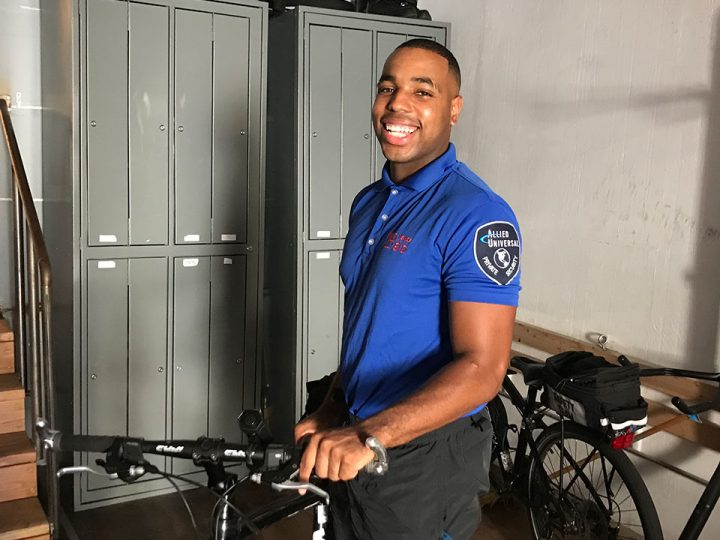 Safe Team Bike Patrol Officer Taurean Washington Strikes a Positive Balance